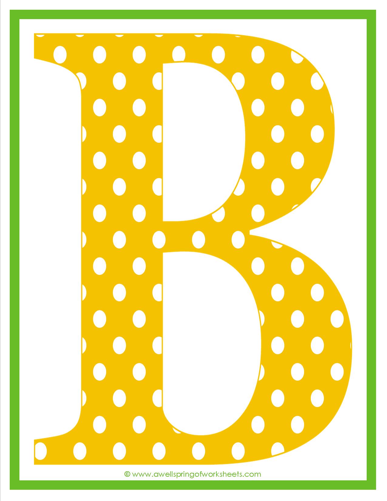 Polka Dot Letters Uppercase Letters