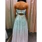 Gorgeous white strapless prom dress strapless prom dresses gold
