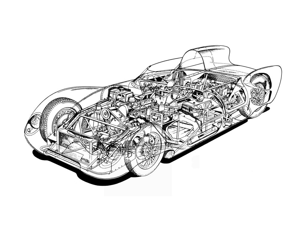Cutaway Drawing From Lotus Eleven Series I 57