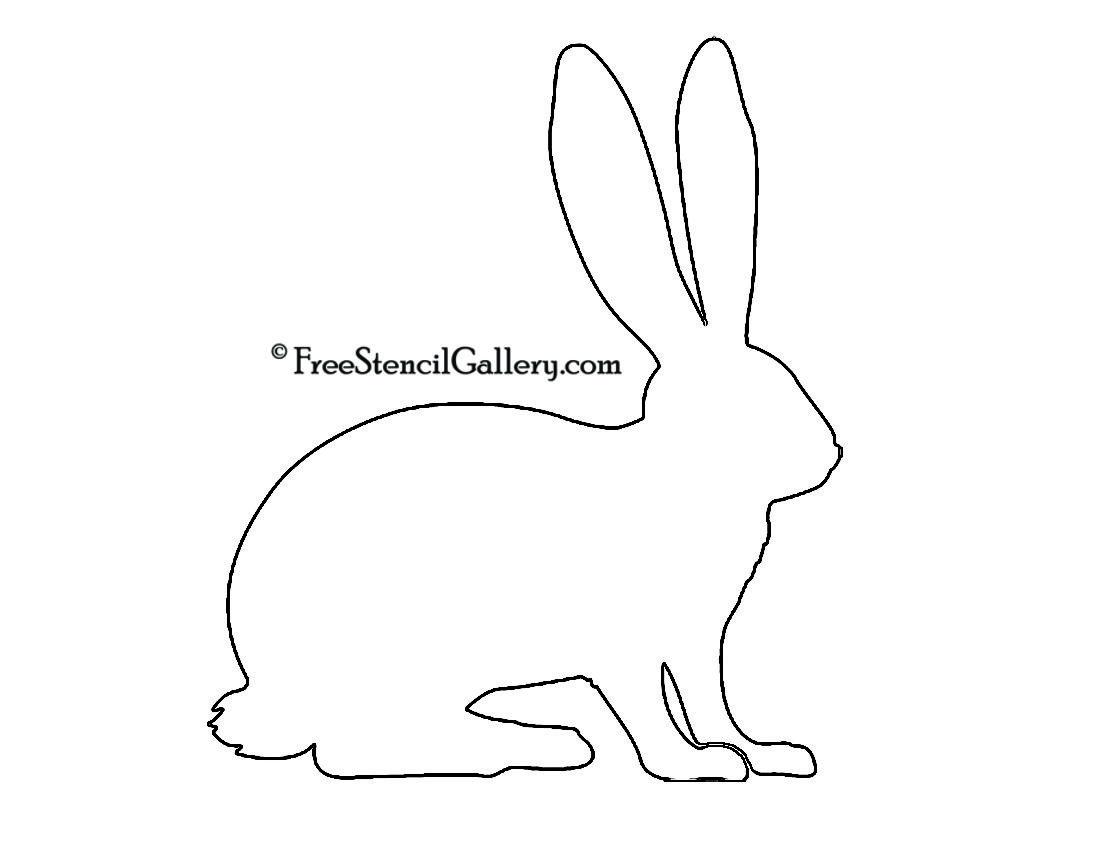 Rabbit Silhouette Stencil