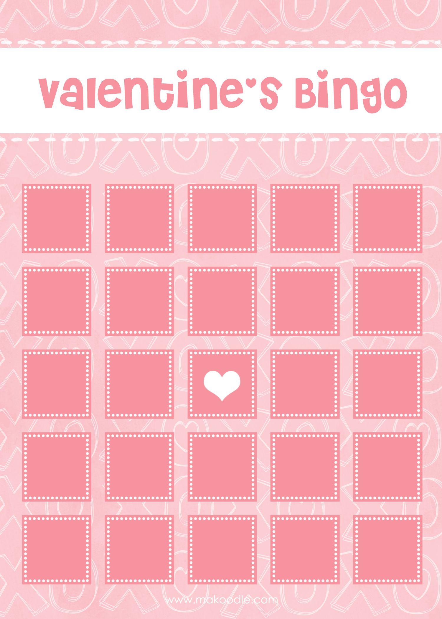 Valentines Bingo Xoxo Blank Blog 1 500 2 100 Pixels