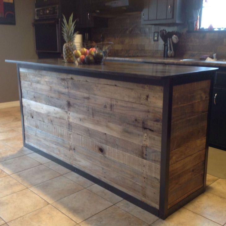 Diy kitchen island made from pallet wood  DIY  Pinterest  Diy