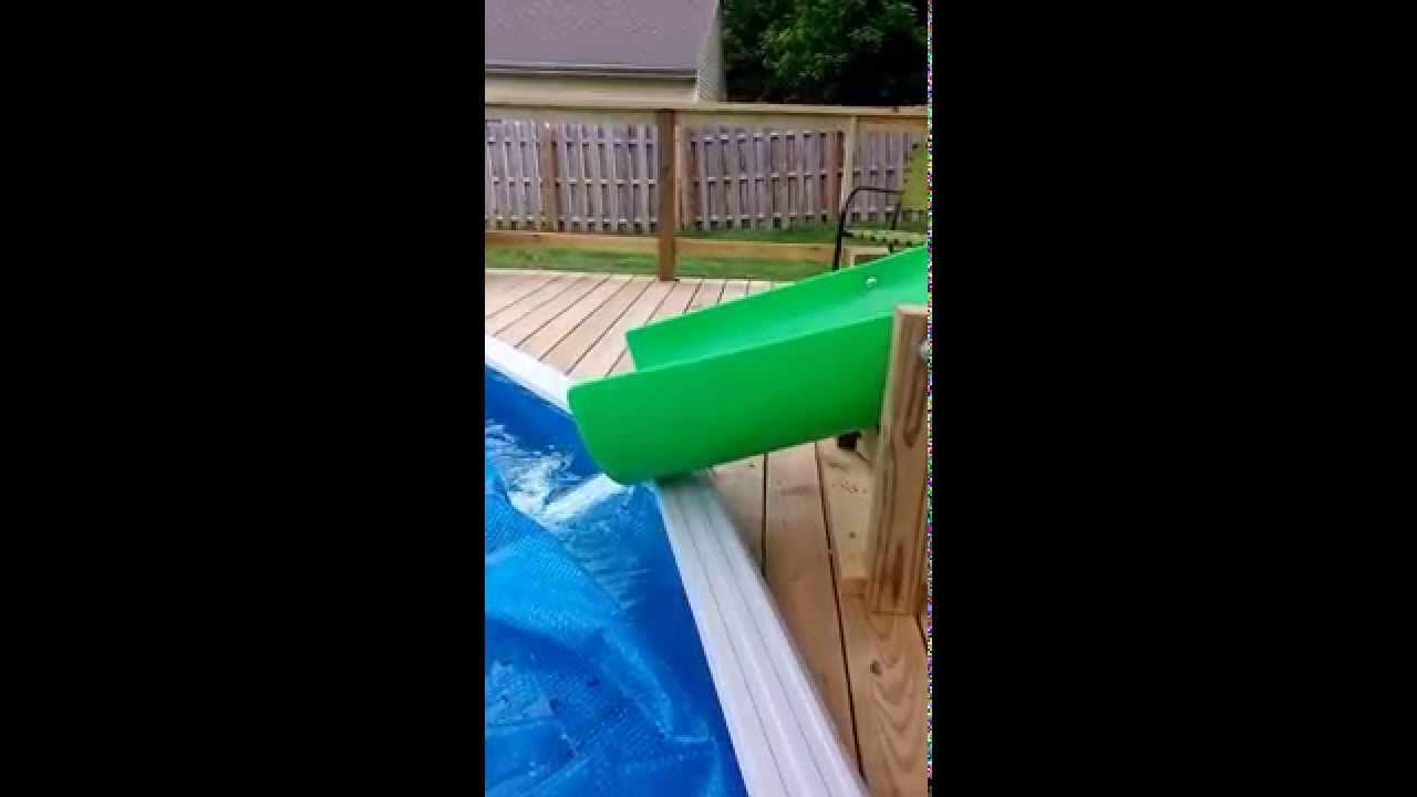 This Is My Custom Homemade 14 Water Slide Going Into A 21