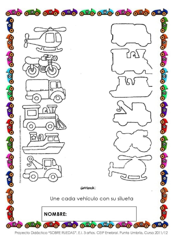 Sobre Ruedas Proyecto De Educacion Infantil 3 Anos
