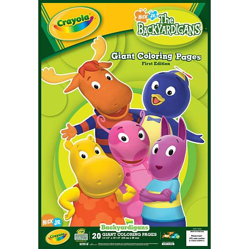 crayola giant coloring pages  the backyardigans  the