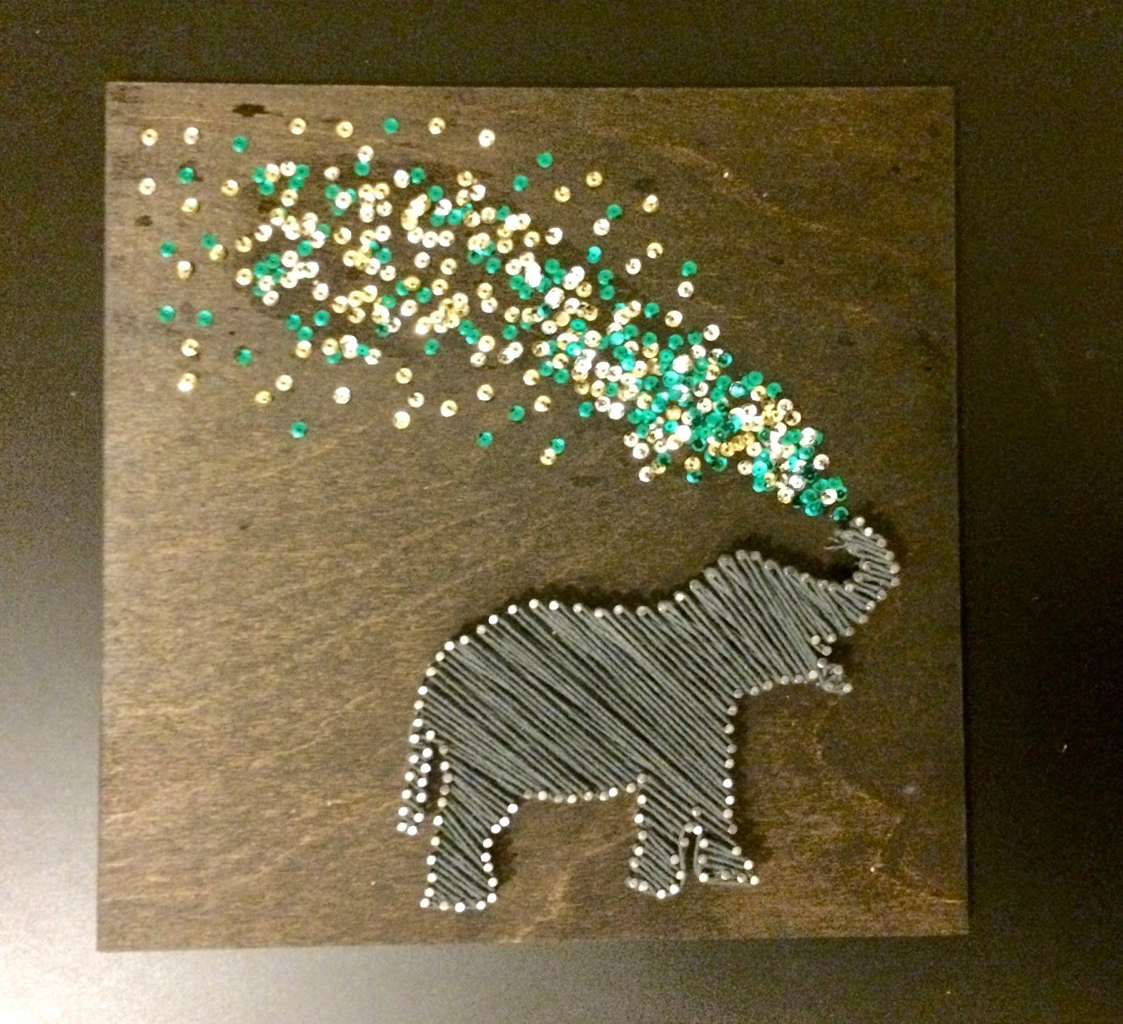 Tackling The String Art Elephant The First Installment In My Blog