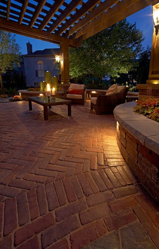 Red Pavers | PATIO & POOL LANDSCAPING IDEAS | Pinterest ... on Red Paver Patio Ideas id=92840