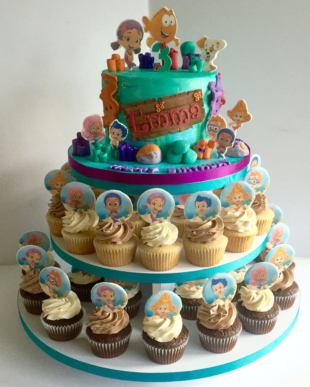 Bubble Guppies Cake Amp Cupcakes