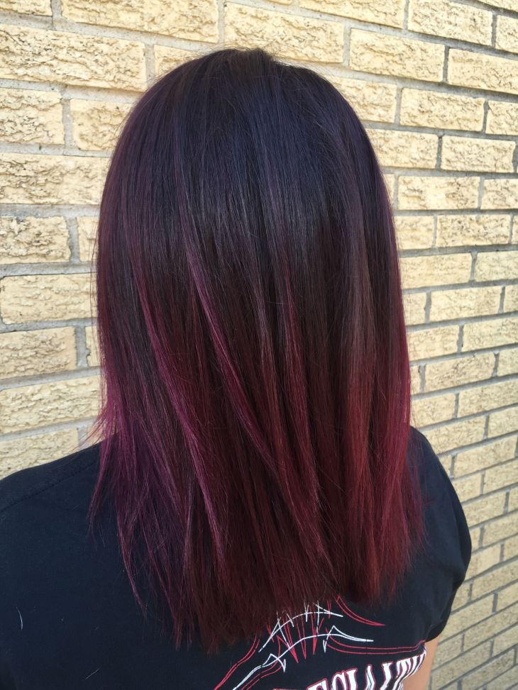 Dark violetred color melt More  Hair  Pinterest  Red color