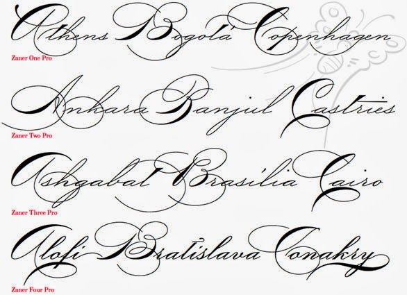 Fancy Cursive Fonts Alphabet For Tattoos Letters Athome