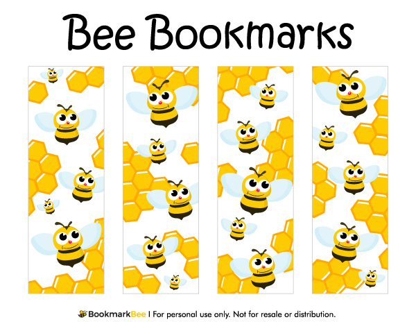 Free Printable Bee Bookmarks The Bookmarks Include Cute
