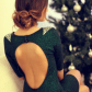 Green open back dress style pinterest