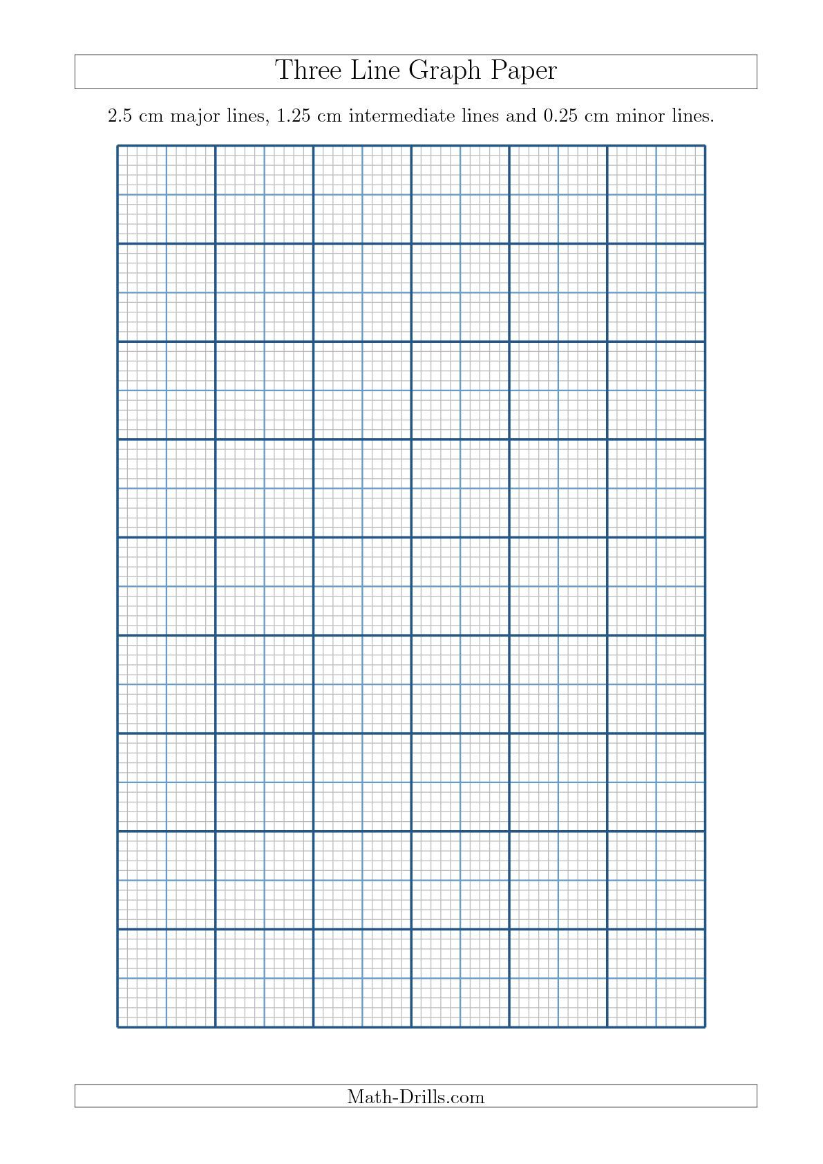 New A4 Sizes Added 09 18 Three Line Graph Paper With