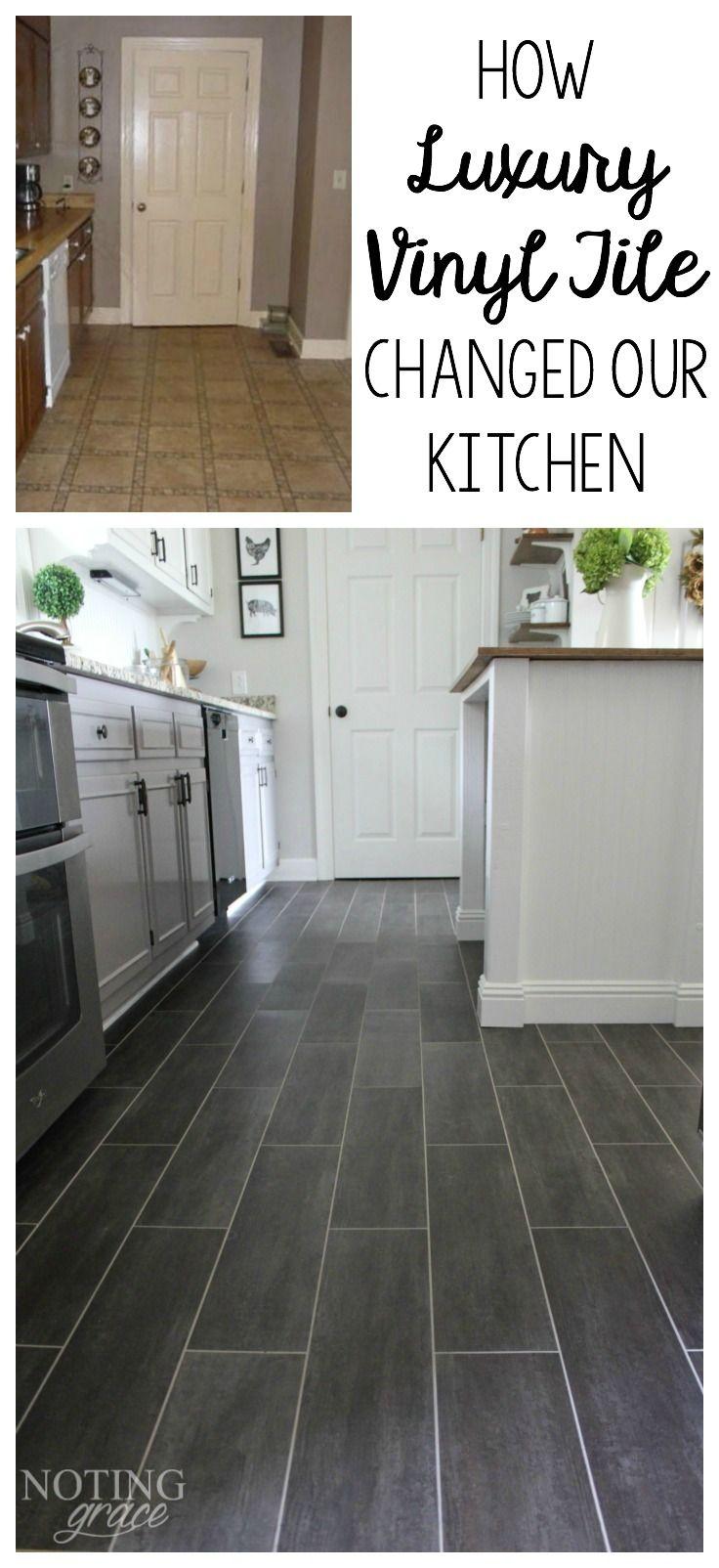 Grey Luxury Vinyl Tile Kitchen   Novocom.top