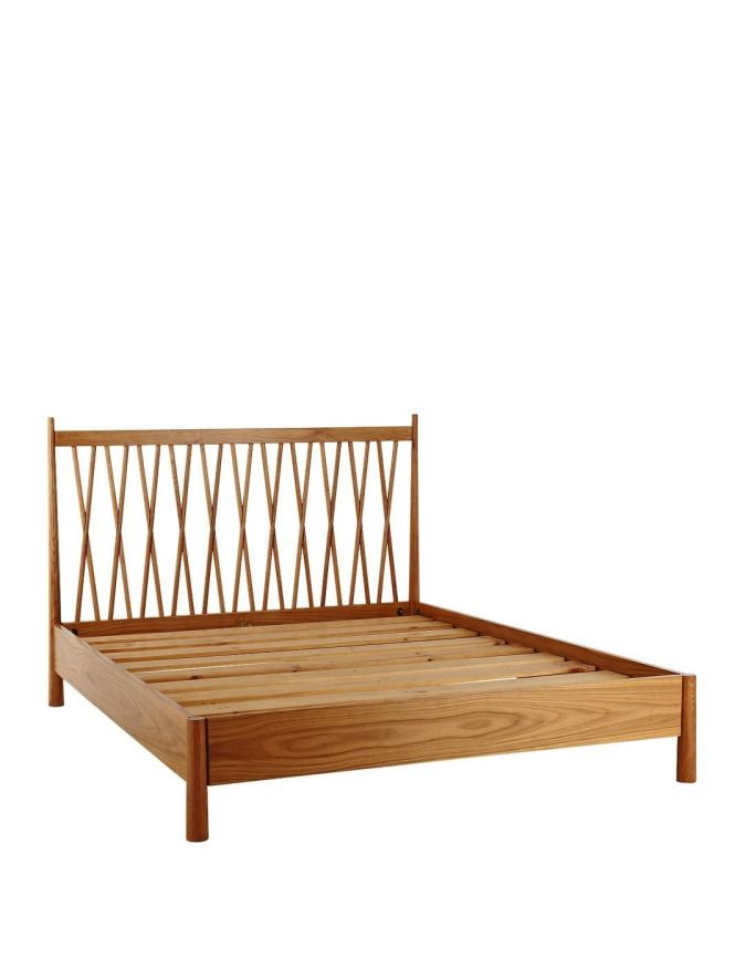 Regan Wooden Bed Frame With Optional Mattress Very Co Uk