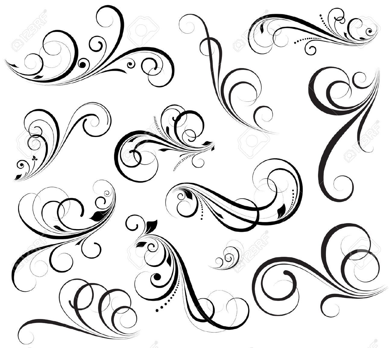 Swirls Vectors Royalty Free Cliparts Vectors And Stock