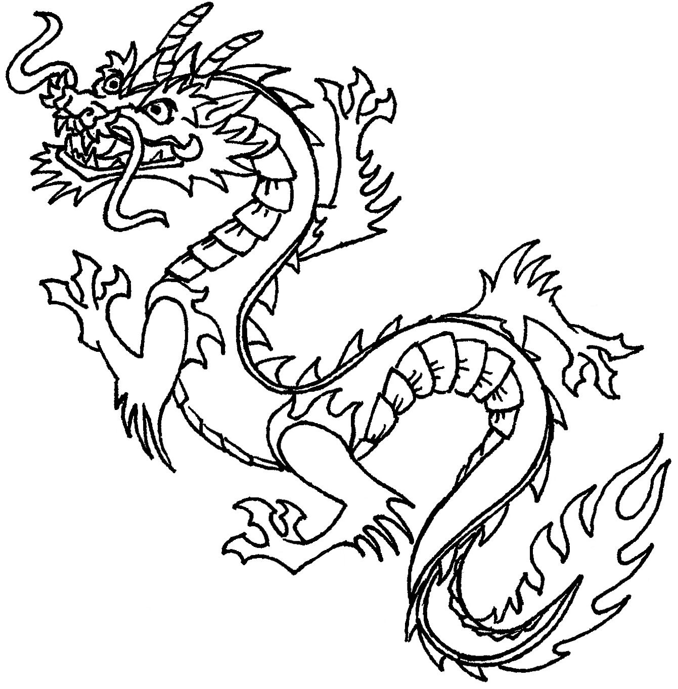 Japanese Dragon Clip Art