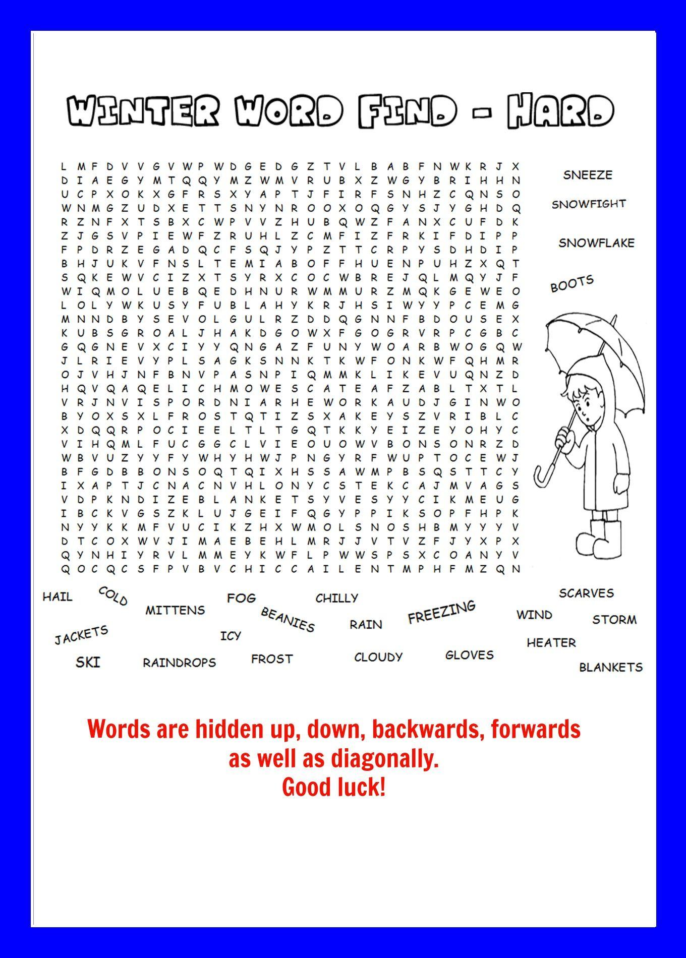 Word Find Kids Activities