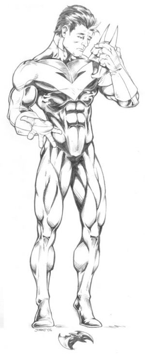 nightwing dc comics superheroes coloring page