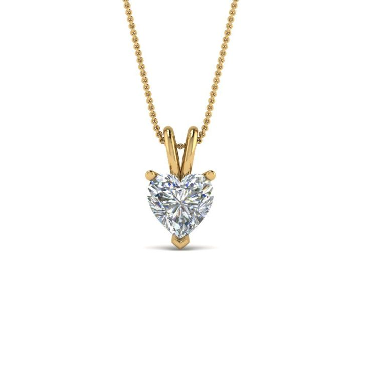 Ct Heart Single Diamond Pendant Diamond pendant Pendants and