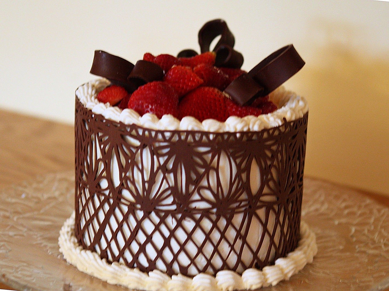 Chocolate Wrapped Cake Chocolate Lace Chocolate Cage