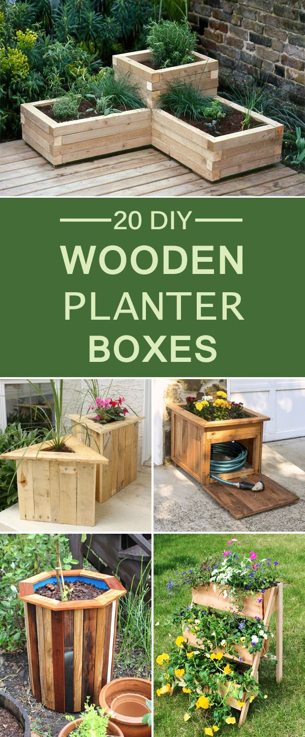 20 diy wooden planter boxes for your yard or patio more on easy diy woodworking projects to decor your home kinds of wooden planters id=34281
