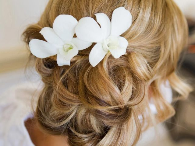 side bun wedding hairstylethe bridal stylists … | pinteres…