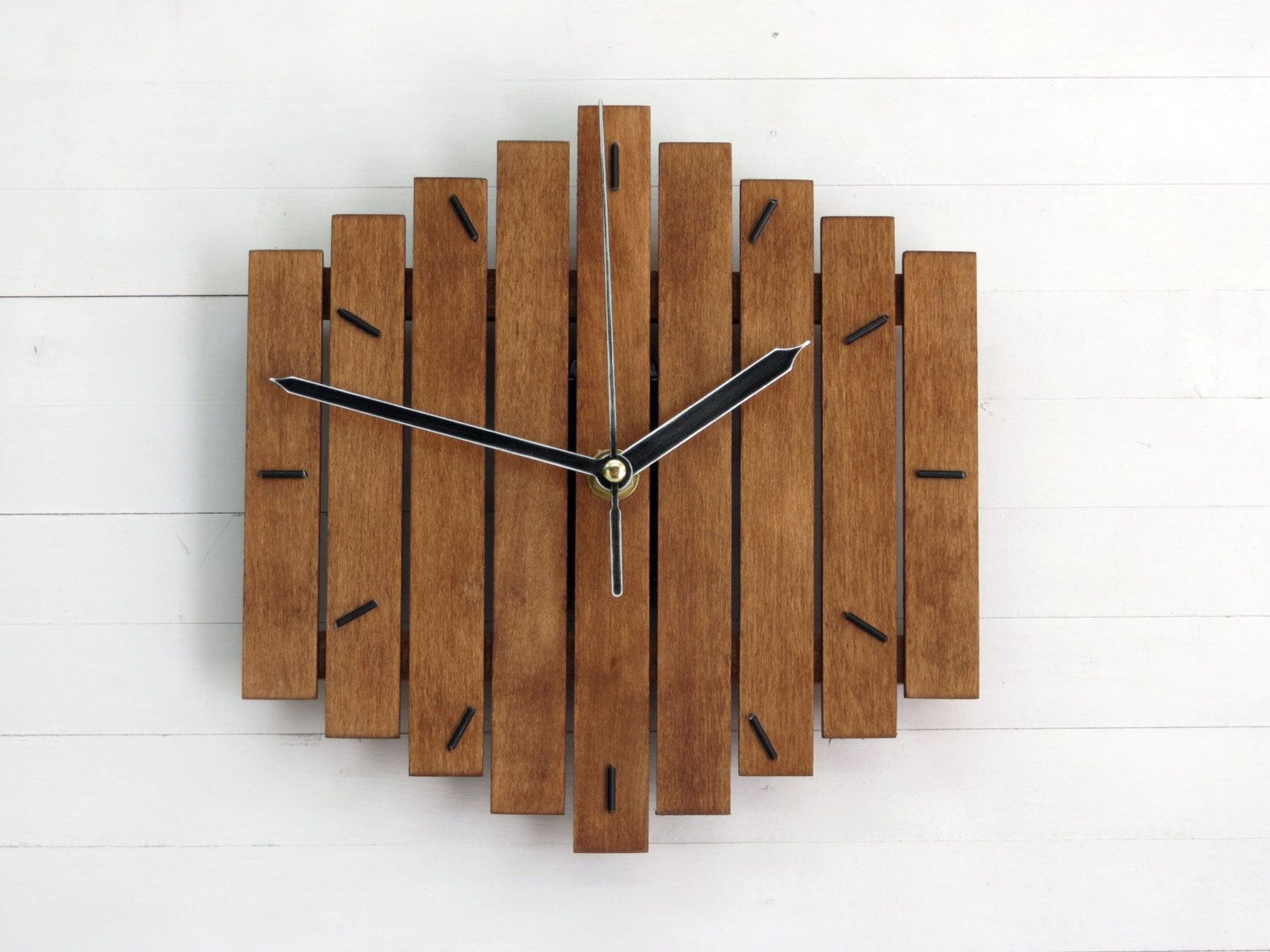 Wooden Clock, Wall Clock, Wood Wall Clock, Modern Wall
