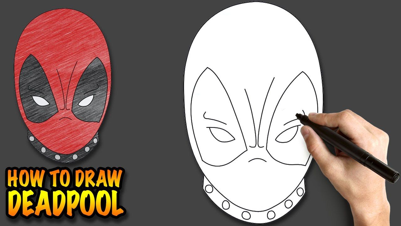 How To Draw Deadpool Easy Step By Step Drawing Lessons