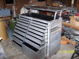Rolling Tool Chest Homemade 15 Cubic Foot 17 Drawer Constructed