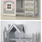 Loft bed with slide out desk  Our Dollhouse Beds are the stuff fairy tales are made of and would