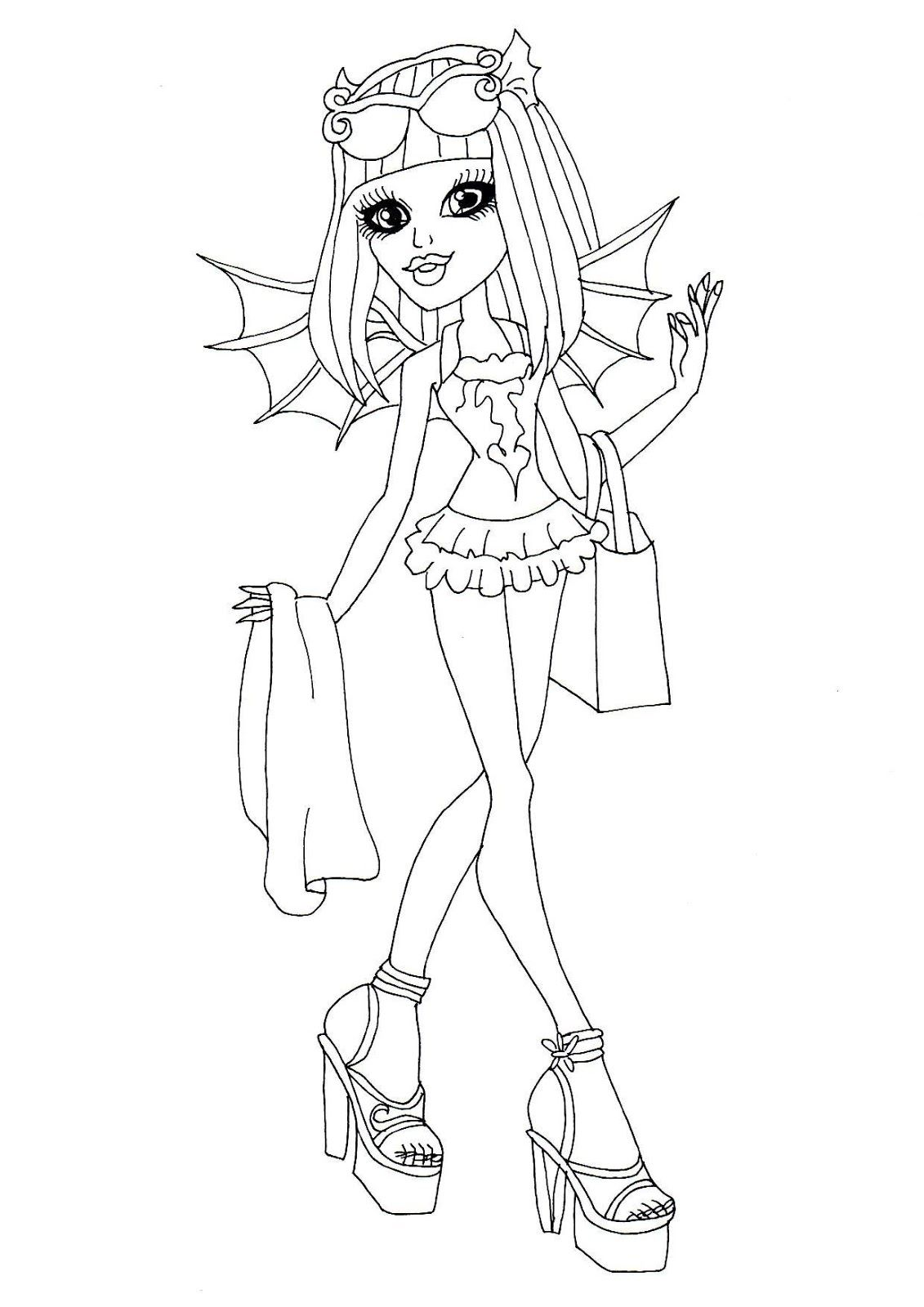 Coloring Pages Monster High Boo York