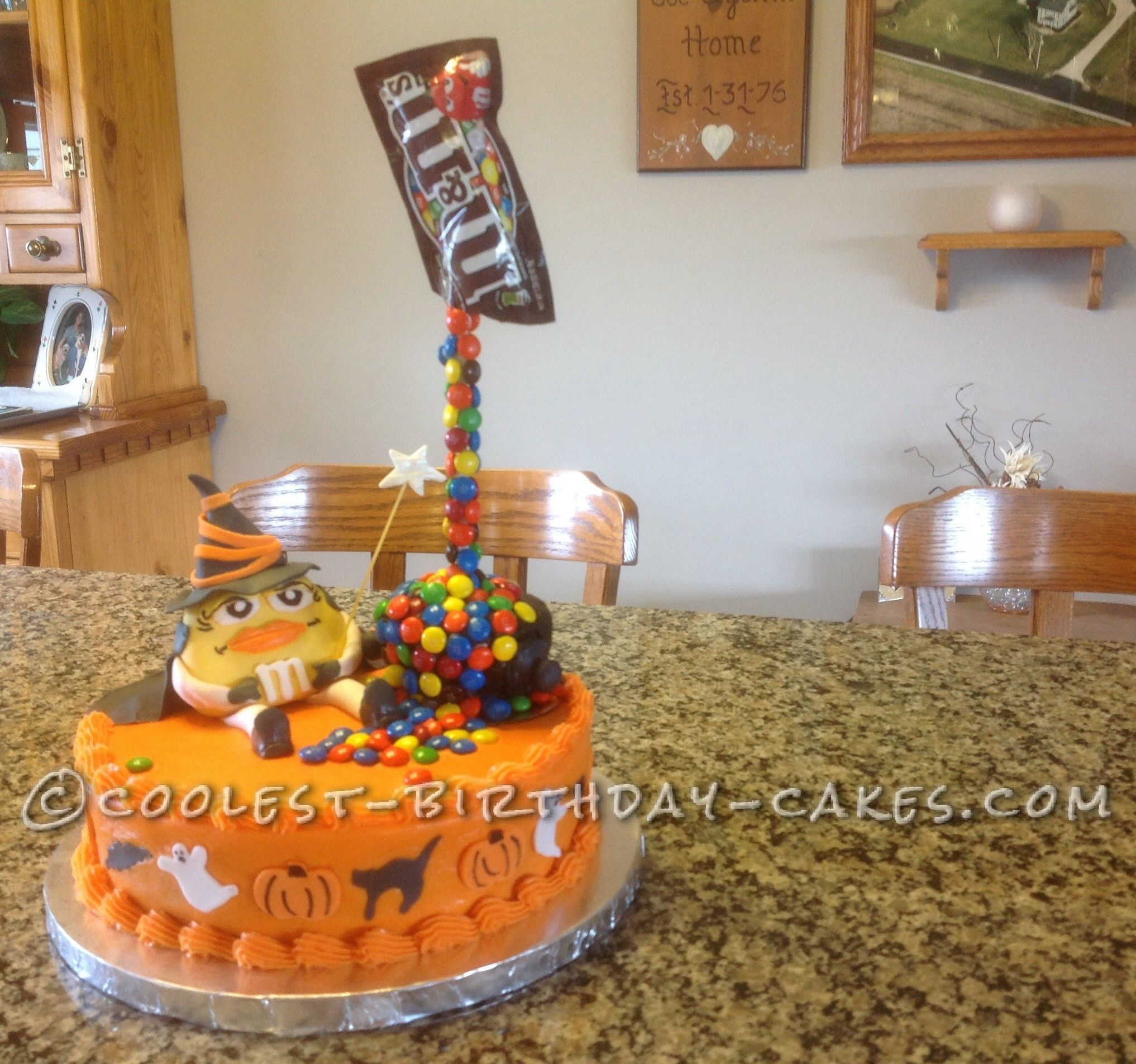 Coolest Witch S Spell Anti Gravity Halloween Cake