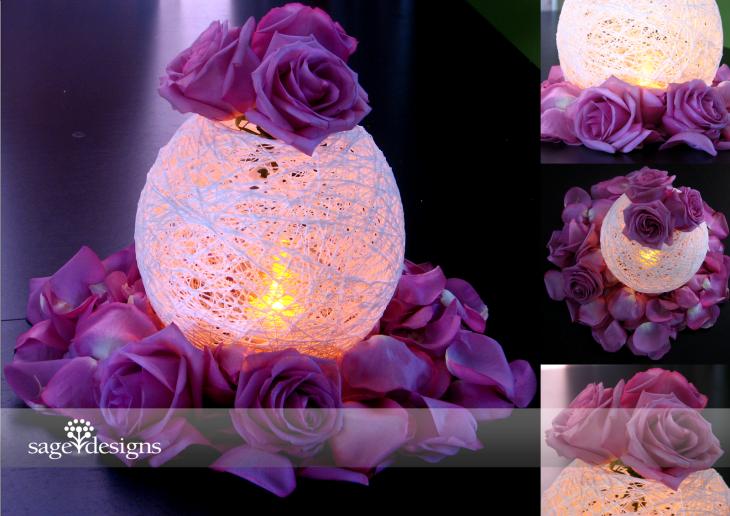elegant purple and silverchristmas decorating ideas