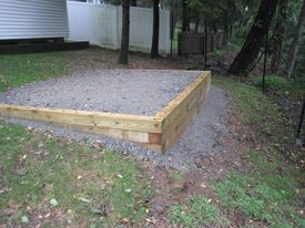 Site Prep   Al's Shed World   a Division of Florham Park ... on Unlevel Backyard Ideas id=30181
