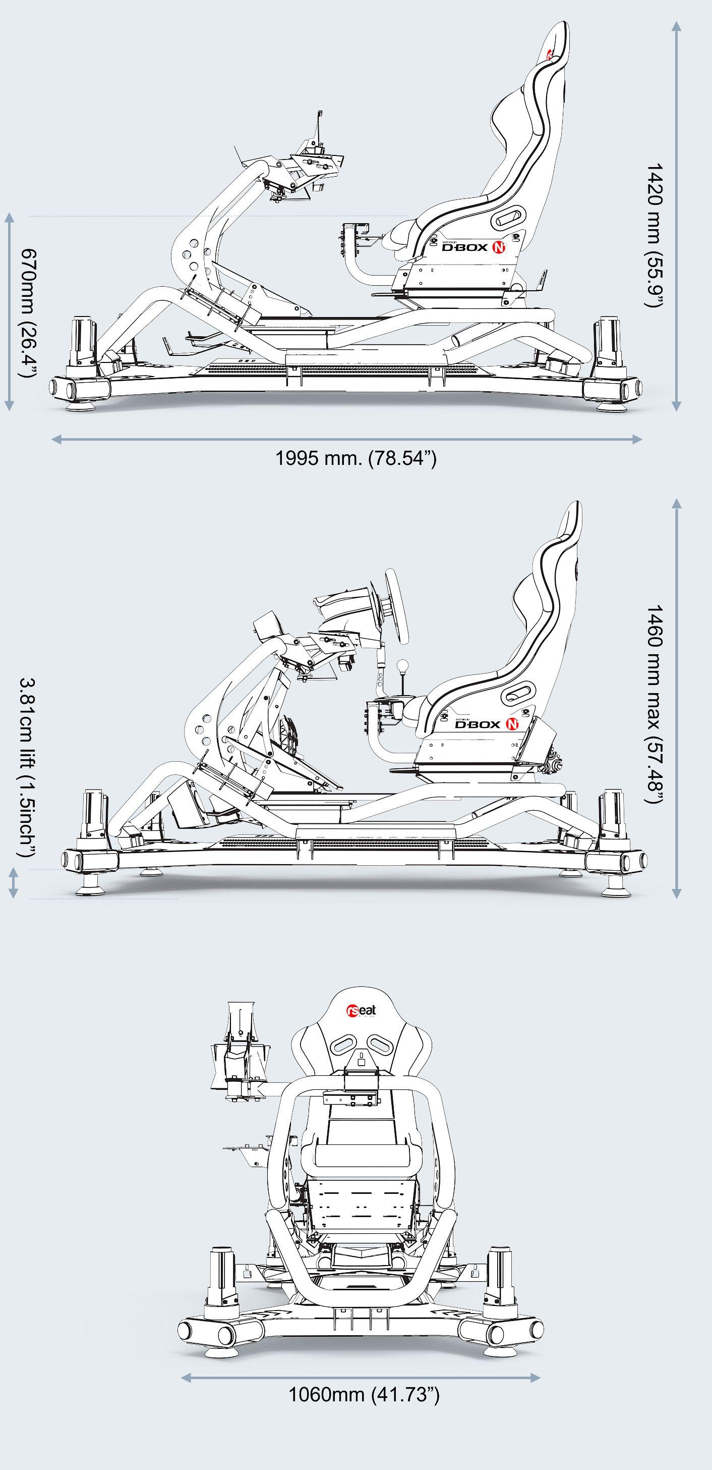Rseat N1 M4a White Motion Simulator Rseat Gaming