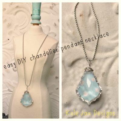 Easy Diy Chandelier Pendant Necklace