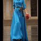 New itemmaxi dress casual maxi dresses black fabric and hemline