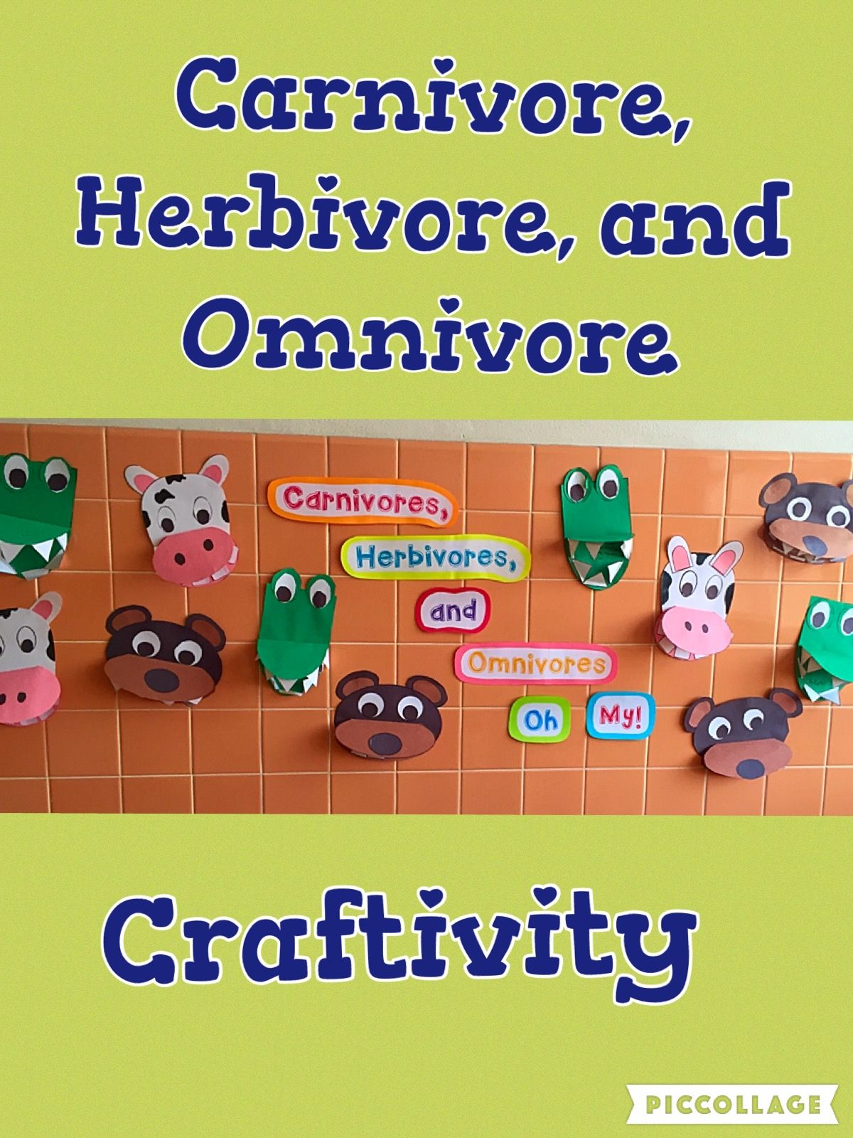 Carnivore Herbivore Amp Omnivore Craftivities And