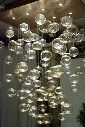 Custom Bubble Chandelier From Crafted Lighting