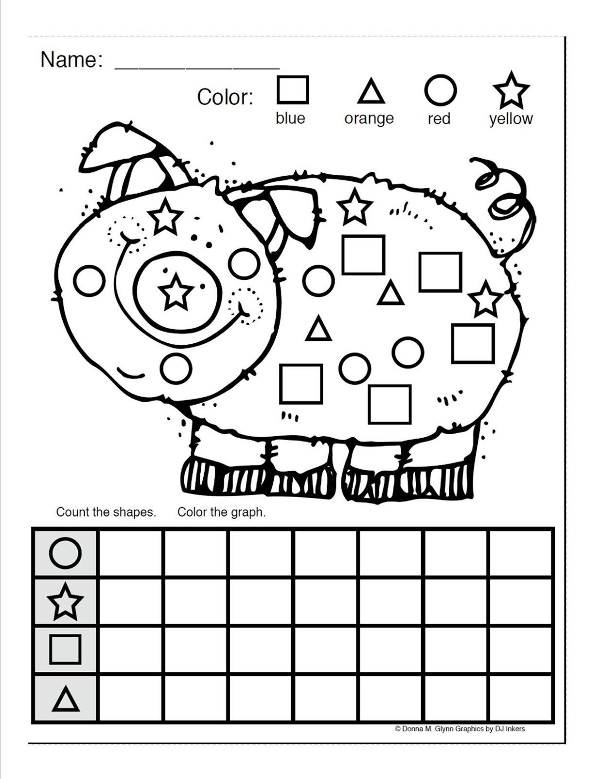 Color And Count The Shapes