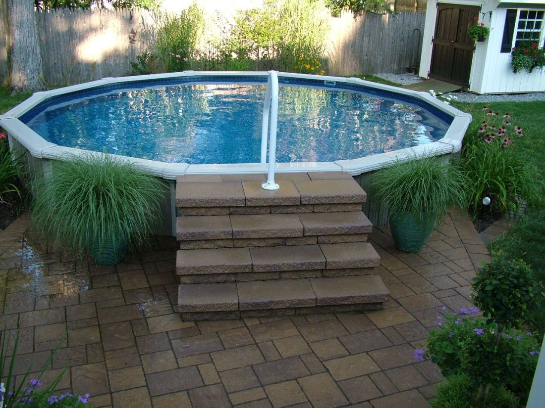 A small oasis in your back yard 18 semiin ground pool