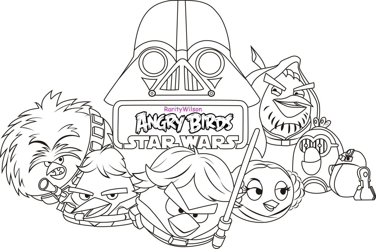 Angry Bird Star Wars Coloring Page 795