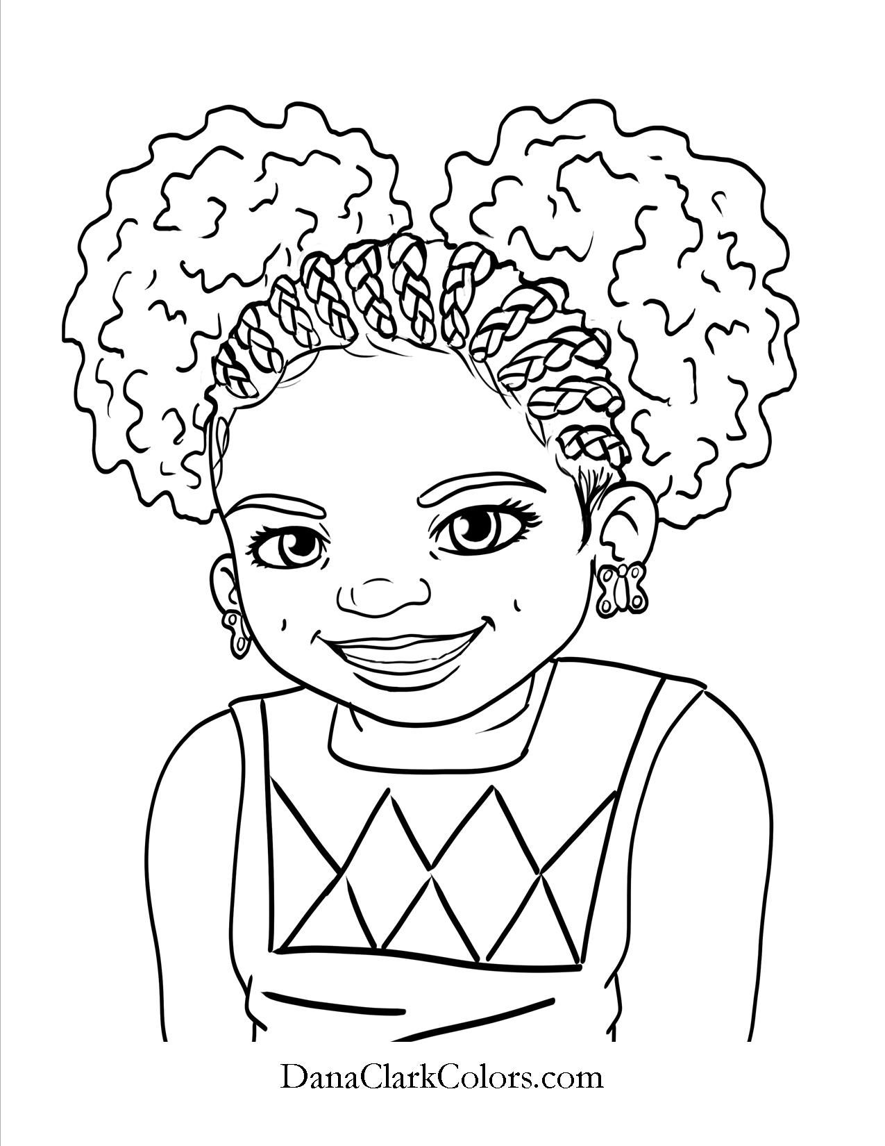 Black Kids Coloring Page Africanamericancoloringpage African
