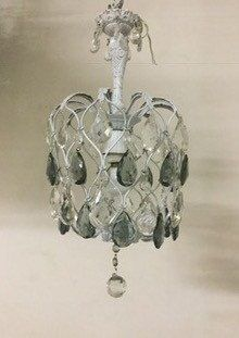 Venetian Crystal Chandelier Vintage Shabby Chic Wiring Compatible Usa Free Shipping By