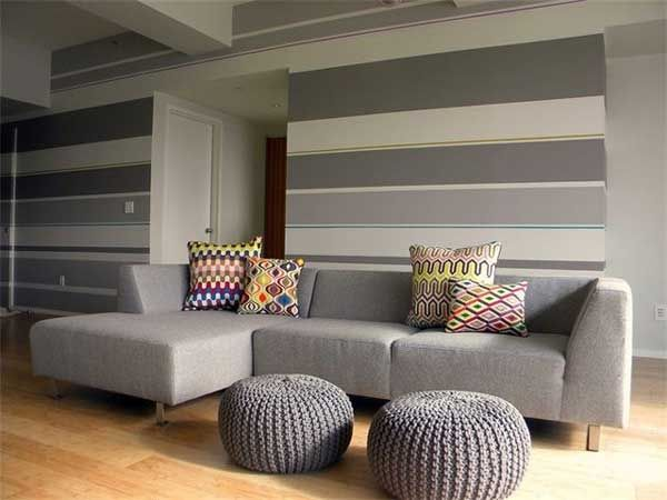 Inspiring Bedroom Stripe Paint Ideas Painting Stripes On Walls