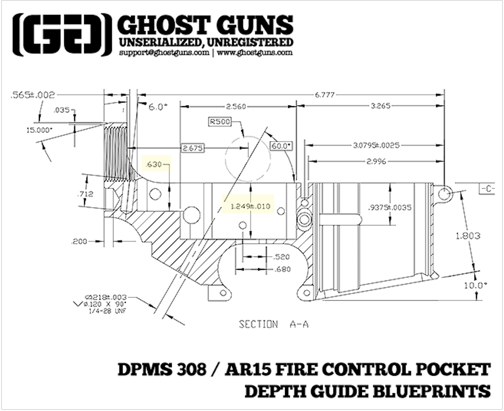 Dpms 308 Blueprints For 308 80 Lower Receiver Builds S Ostguns 13 Dpms 308