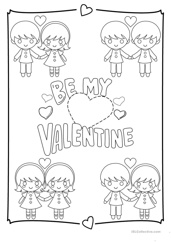 Valentines Day Coloring Page Värityskuvia Ja Muuta Kynätouhua