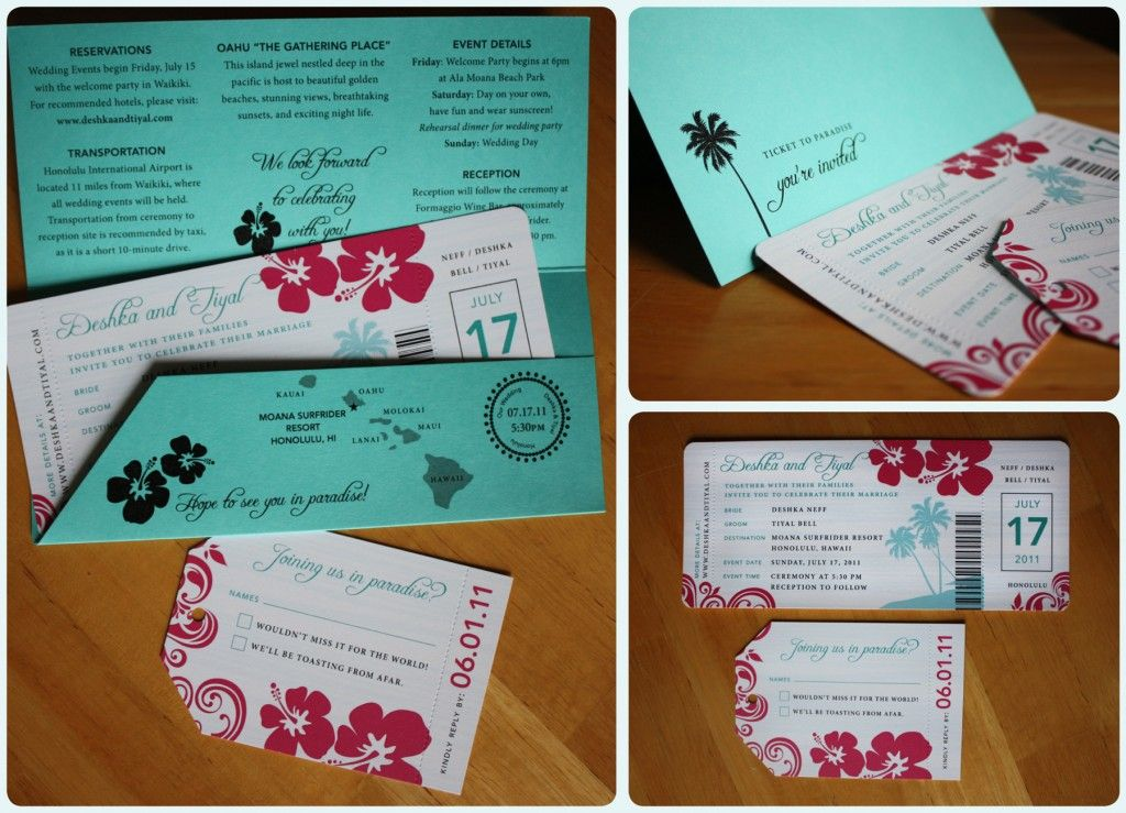 Plane Ticket Invitation Template Wedding Custom  Plane Ticket Invitation Template