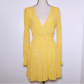 Nwt for love and lemons chiquita yellow dress embroidered flowers